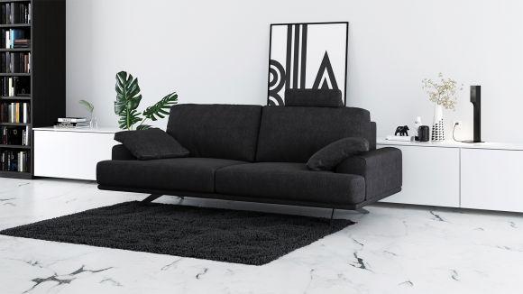 Canapea liniara 2 locuri Terni Dark Grey