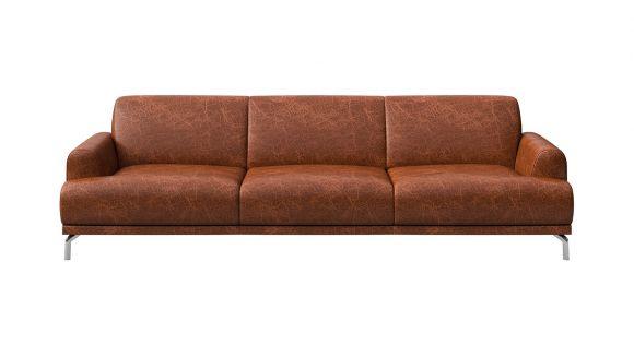 Canapea liniara 3 locuri Pavia piele Cerato Cognac