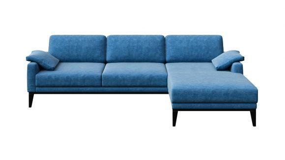 Canapea de colt cu sezlong Calini Itavelluti Turquise, dreapta