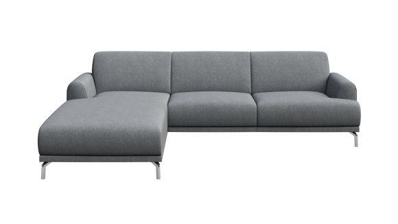 Canapea de colt cu sezlong Pavia Light Grey, stanga