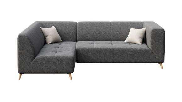 Canapea de colt cu sezlong Asti Dark Grey, stanga