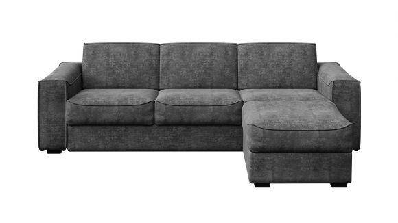 Canapea extensibila cu sezlong reversibil Martini Maxi Italvelluti Dark Grey