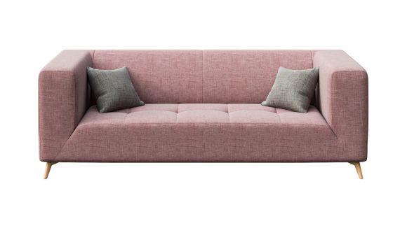 Canapea liniara 3 locuri Asti Dirty Rouge