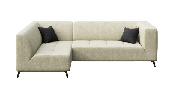Canapea de colt cu sezlong Asti Light Beige, stanga