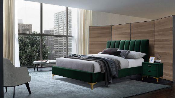 Pat Almond green velvet 160x200