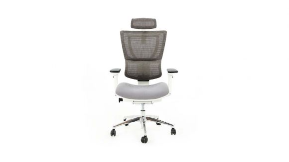 Scaun de birou Ioo White Chrome Grey Fabric