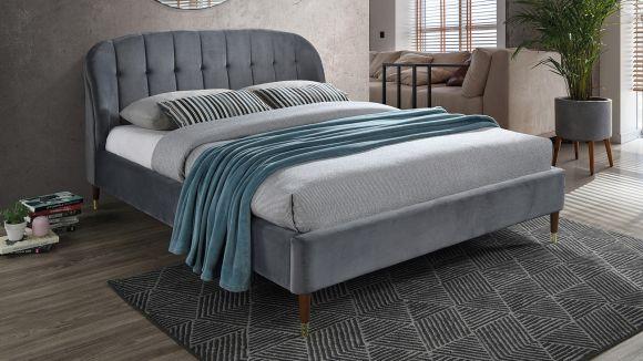 Pat Ambra grey velvet 160x200