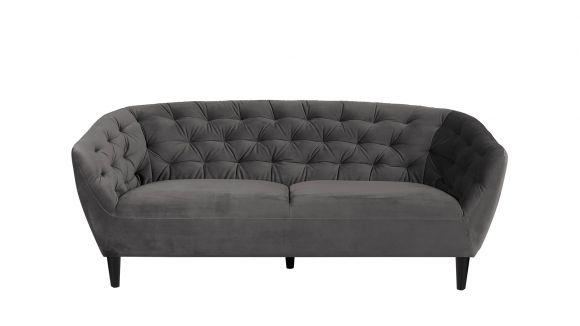 Canapea liniara 3 locuri Ria Dark Grey
