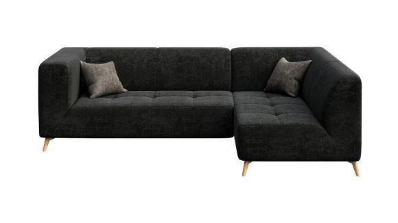 Canapea de colt cu sezlong Asti Italvelluti Dark Grey, dreapta