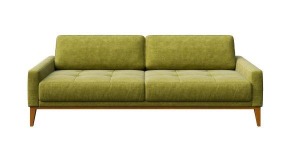 Canapea liniara 3 locuri Calini Italvelluti Button Olive