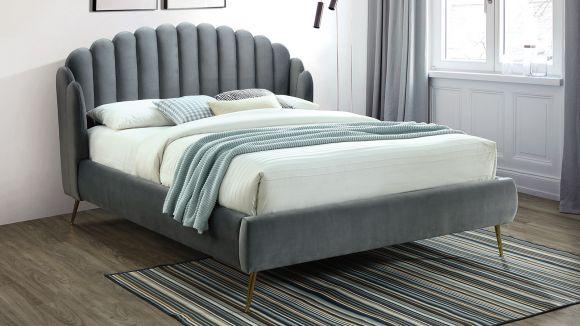 Pat Astor grey velvet 160x200