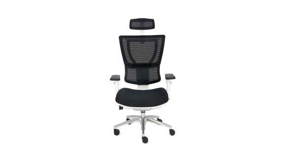 Scaun de birou Ioo White Chrome Black Fabric