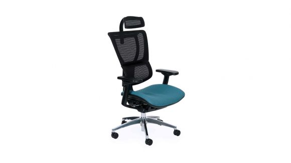 Scaun de birou Ioo Black Chrome Cura Blue