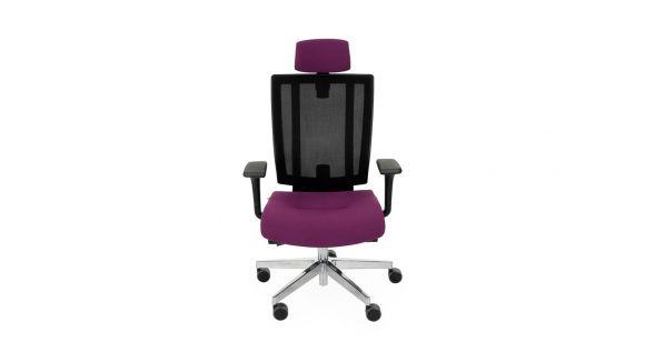 Scaun de birou MaxPro BS HD Black Chrome Flex Purple