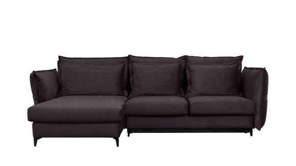 Canapea de colt extensibila Eva Boston Lavanda S1, stanga
