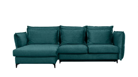 Canapea de colt extensibila Eva Boston Turquoise S1, stanga