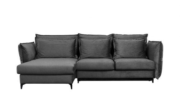 Canapea de colt extensibila Eva Piano Grey S1, stanga