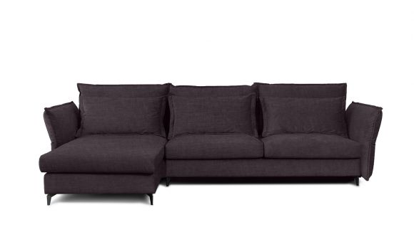 Canapea de colt extensibila Eva Boston Lavanda S2, stanga