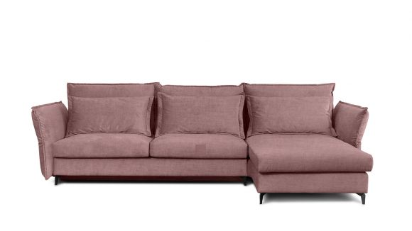Canapea de colt extensibila Eva Boston Pink S2, dreapta