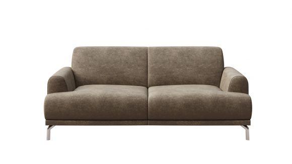 Canapea liniara 2 locuri Pavia leather touch Warm Grey