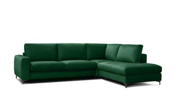 Canapea de colt extensibila Bella Salvador Dark Green S1, dreapta