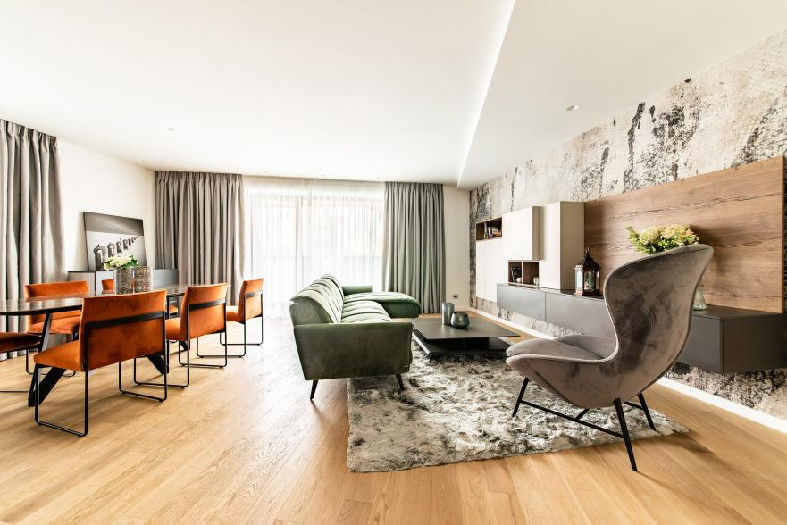 Un apartament de 2 camere - o amenajare completa in stil Italian